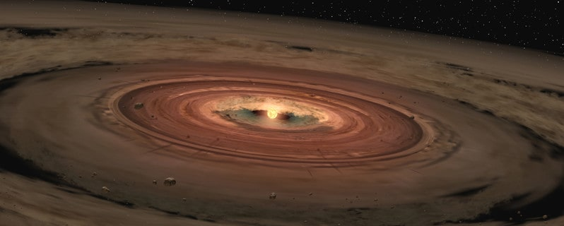 This artist's concept shows a brown dwarf surrounded by a swirling disk of planet-building dust. With our research we hope find out if these disks contain enough material to build planetary systems. Image Credit: NASA/JPL